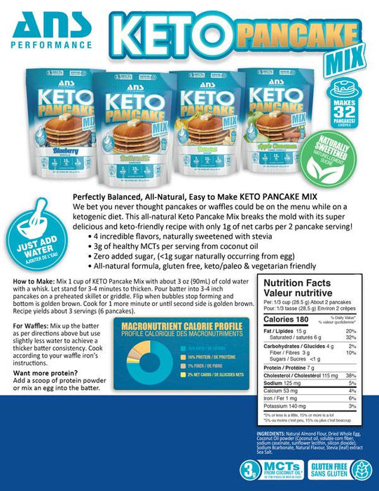 ANS Performance Keto Pancake Mix Details