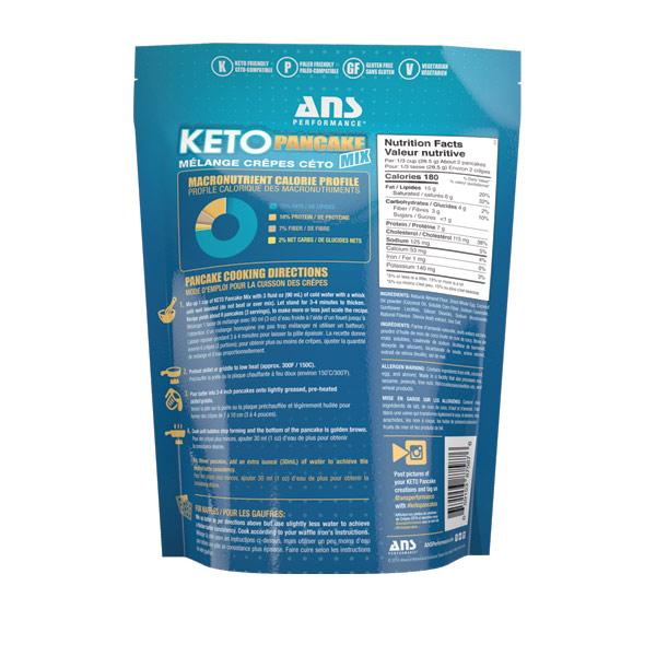 ANS Keto Pancake Mix Nutritional Facts