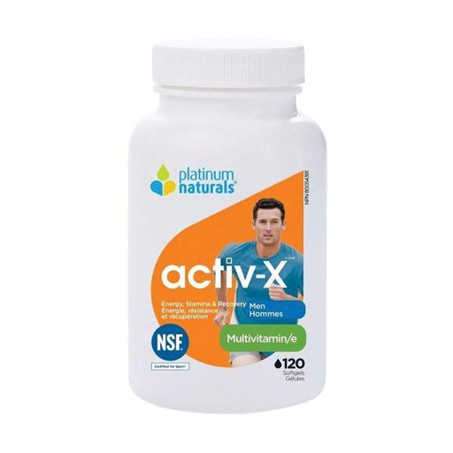 Platinum Naturals Activ-X MultiVitamins for Men 120 softgels