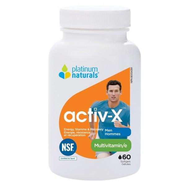 Platinum Naturals Active-X Men, 60 softgels