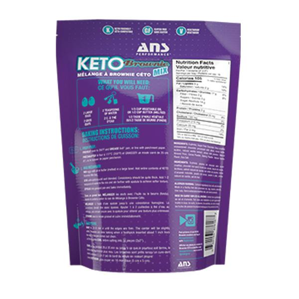 ANS Keto Brownie Mix Back