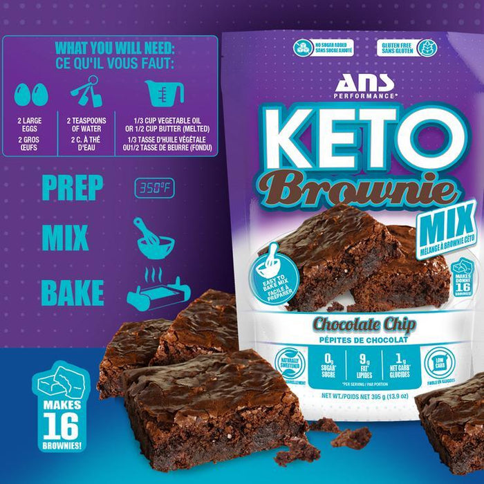 ANS Keto Brownie Mix Featured Chocolate Chip