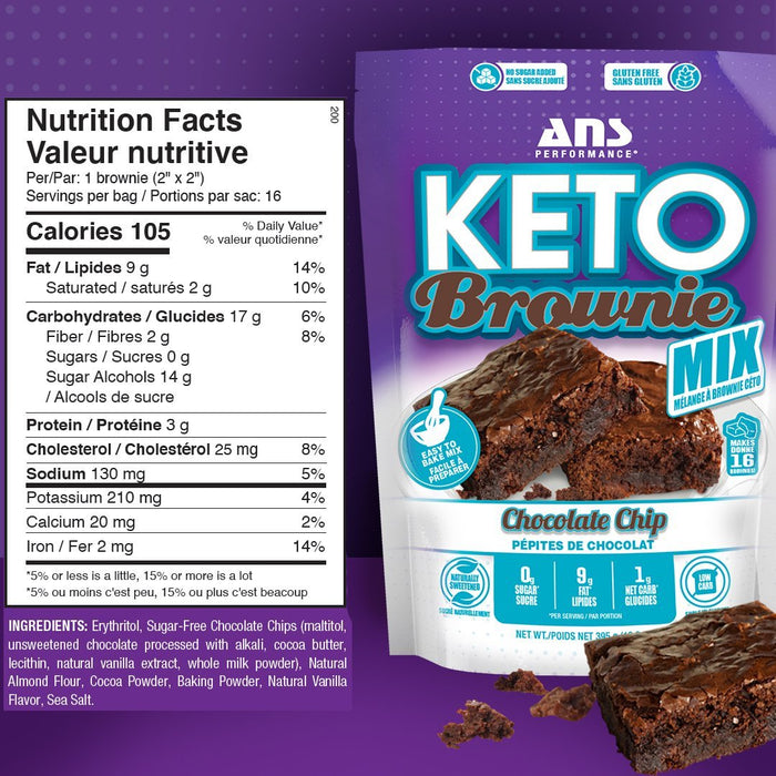 ANS Keto Brownie Mix Nutrition Facts