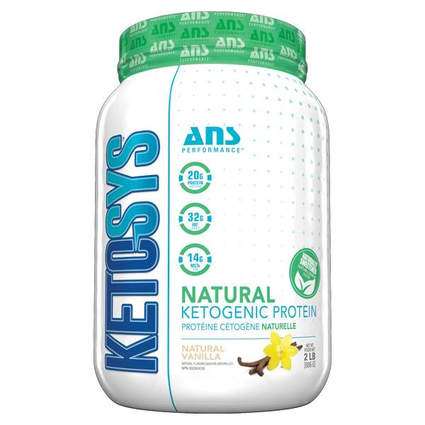 ANS Ketosys Protein Natural Vanilla sweetened with stevia