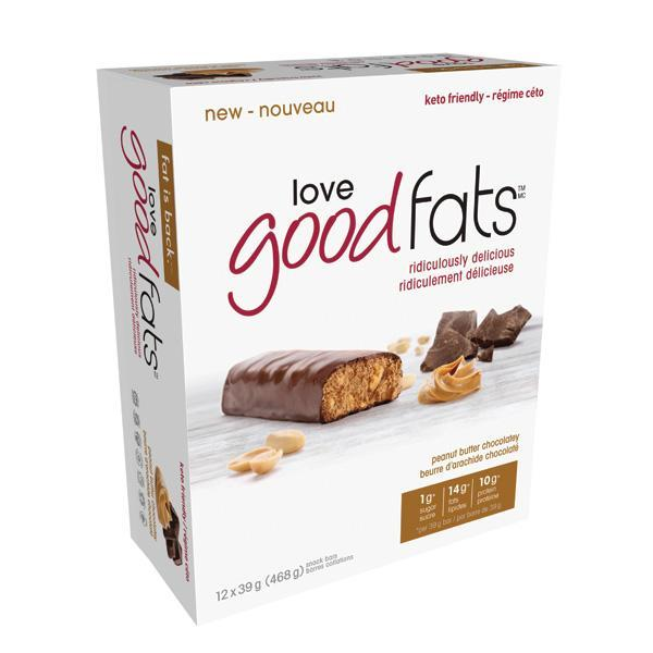 Love Good Fats Peanut Butter Chocolate - Keto Friendly Snacks
