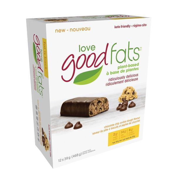 Love Good Fats Plant Based Chocolate Chip Cookie Dough - Keto Friendly Snacks