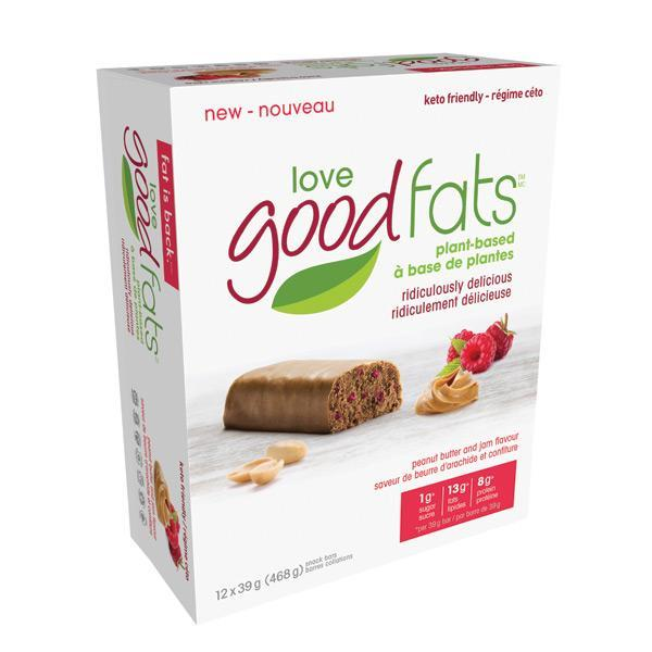 Love Good Fats Plant Based Peanut Butter and Jam - Keto Friendly Snacks
