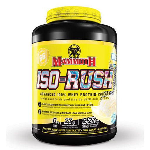 Mammoth Iso Rush Whey Protein Isolate 5lbs