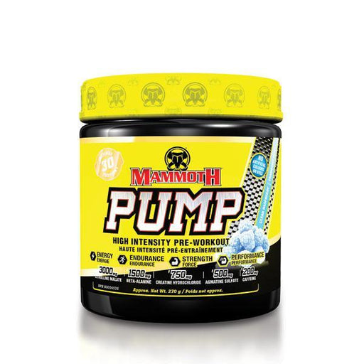 Mammoth Supplement Pump Pre Workout 30 servings