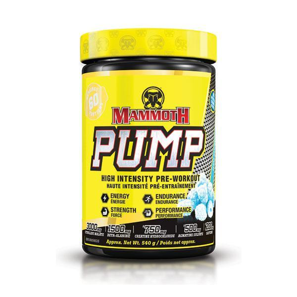 Mammoth Supplement Pump Pre Workout 60 servings
