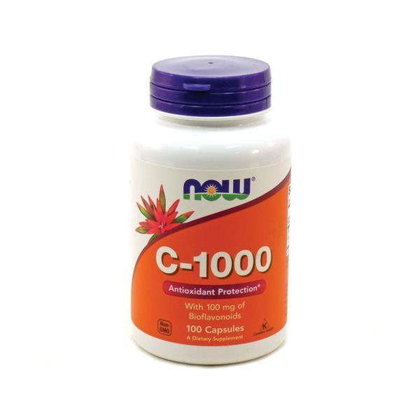 NOW Vitamin C 1000 with 100mg Bioflavonoids 100vcaps