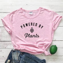 Load image into Gallery viewer, Powered by Plants T-Shirt (Plant Based Tshirt) - Green 'N' Groovy