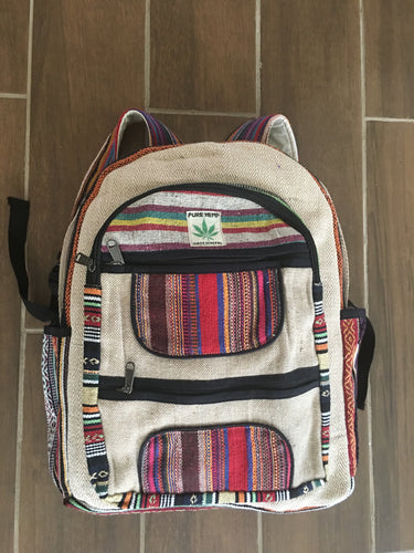 Himalayan Hemp Backpack - Handmade - Green 'N' Groovy