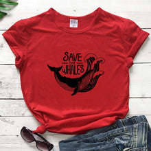 Load image into Gallery viewer, Save the Whales T-Shirt - Green 'N' Groovy