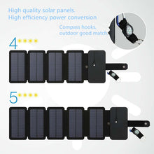 Load image into Gallery viewer, Direct-filled Solar Charger product information - high quality solar panels, high efficiency power conversion - compass hooks great for outdoors 5 Star Solar - Green 'N' Groovy