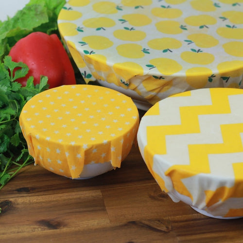 3Pack Beeswax Wrap Eco Friendly -  Food Wraps - Green 'N' Groovy