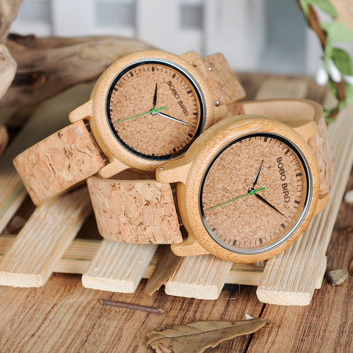 Bamboo Watch - Made with Bamboo & Cork Bobo Bird
