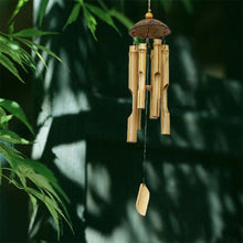 Load image into Gallery viewer, Hanging Bamboo Wind Chime with Coconut Shell