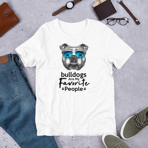 Bulldogs Are My Favorite People Funny Bulldog Shirt for Men-White-Funny Dog Shirts.com