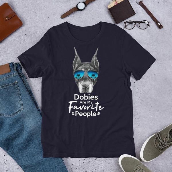 Dobies Are My Favorite People Funny Doberman Shirt for Men-Navy-Funny Dog Shirts.com