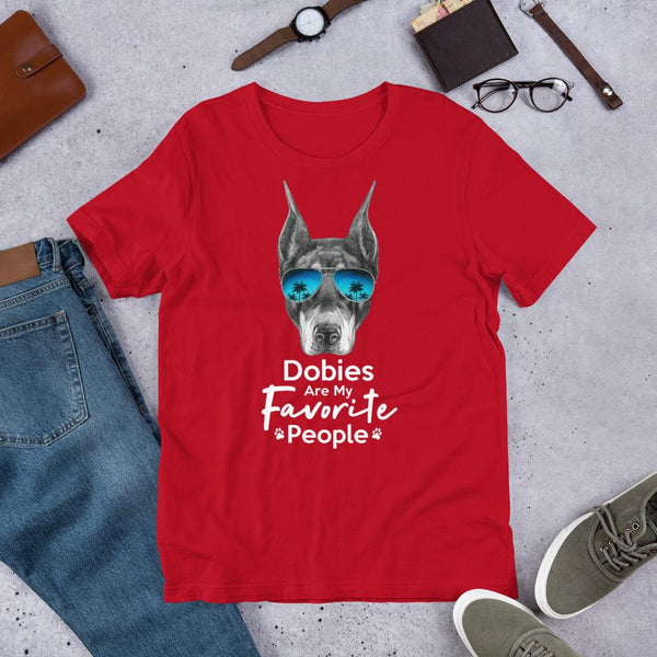Dobies Are My Favorite People Funny Doberman Shirt for Men-Red-Funny Dog Shirts.com