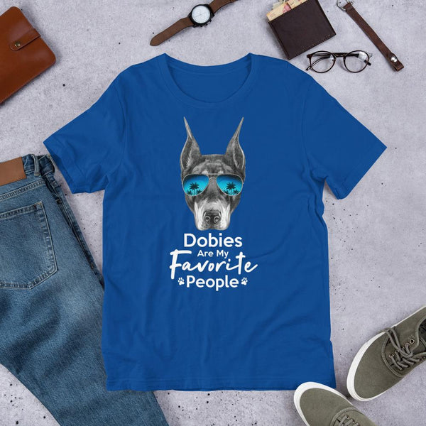 Dobies Are My Favorite People Funny Doberman Shirt for Men-True Royal-Funny Dog Shirts.com