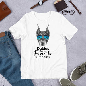Dobies Are My Favorite People Funny Doberman Shirt for Men-White-Funny Dog Shirts.com