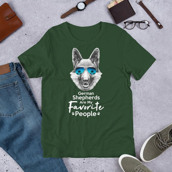 German Shepherds Are My Favorite People Funny Dog T-Shirt for Men-Forest-Funny Dog Shirts.com