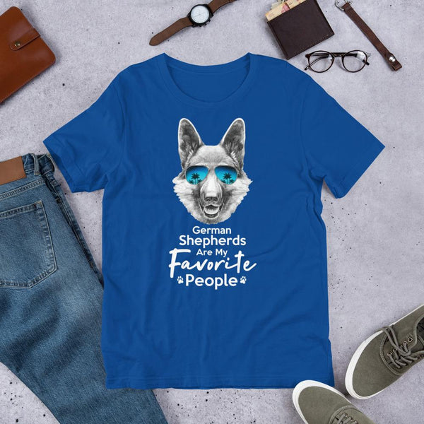 German Shepherds Are My Favorite People Funny Dog T-Shirt for Men-True Royal-Funny Dog Shirts.com