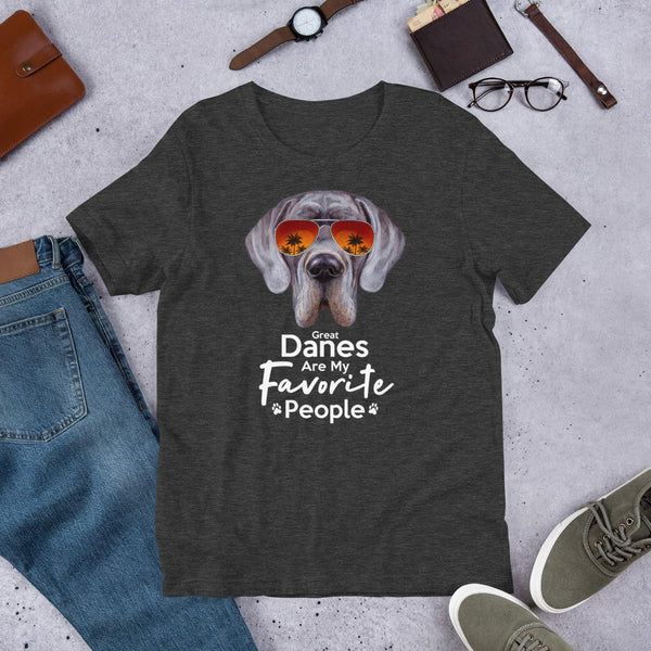 Great Danes Are My Favorite People Funny Great Dane Shirt for Men-Dark Grey Heather-Funny Dog Shirts.com