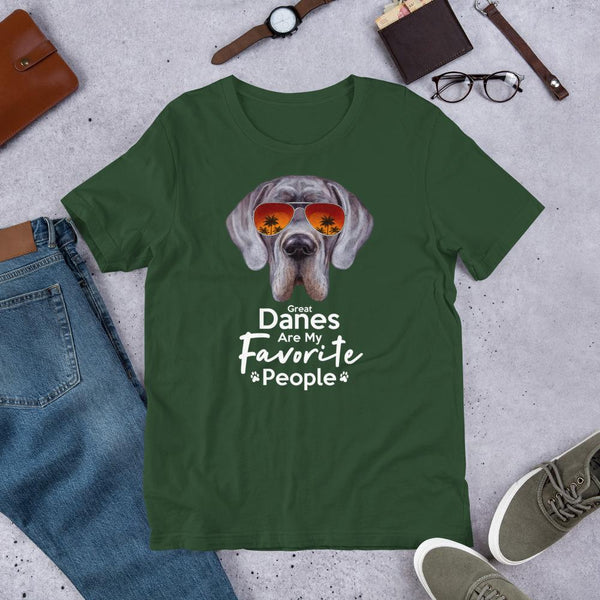 Great Danes Are My Favorite People Funny Great Dane Shirt for Men-Forest-Funny Dog Shirts.com