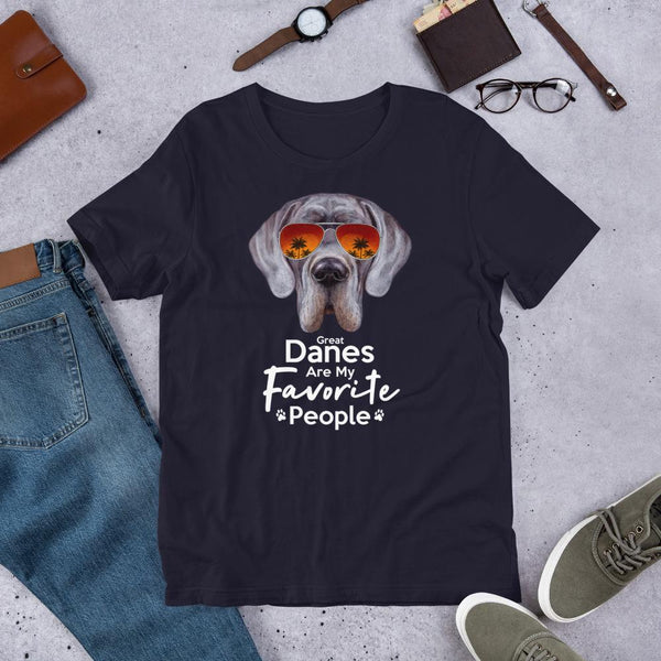 Great Danes Are My Favorite People Funny Great Dane Shirt for Men-Navy-Funny Dog Shirts.com