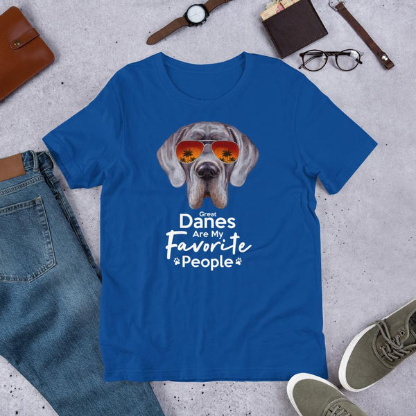 Great Danes Are My Favorite People Funny Great Dane Shirt for Men-True Royal-Funny Dog Shirts.com