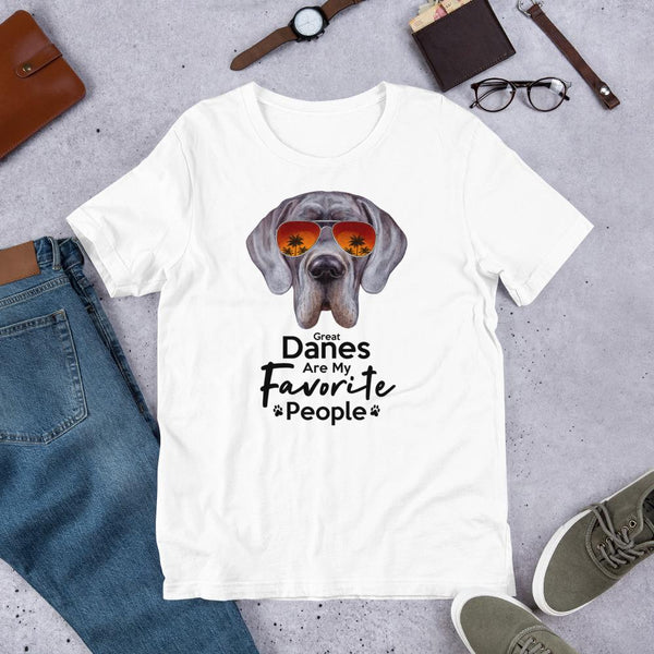 Great Danes Are My Favorite People Funny Great Dane Shirt for Men-White-Funny Dog Shirts.com