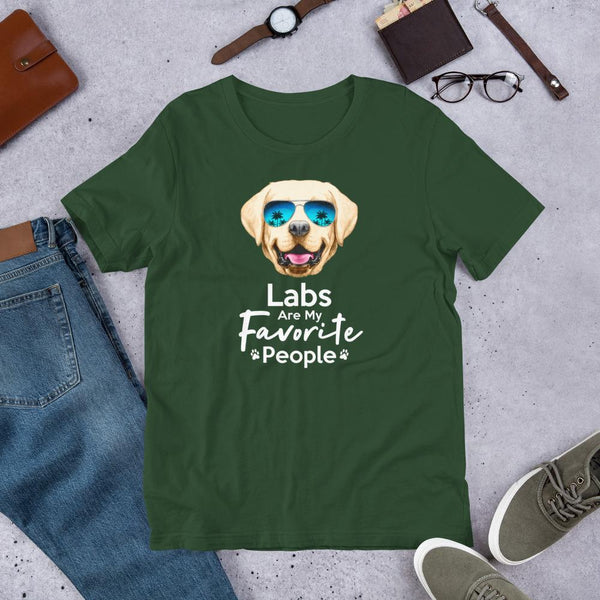 Labs Are My Favorite People Funny Labrador T-Shirt for Men-Forest-Funny Dog Shirts.com