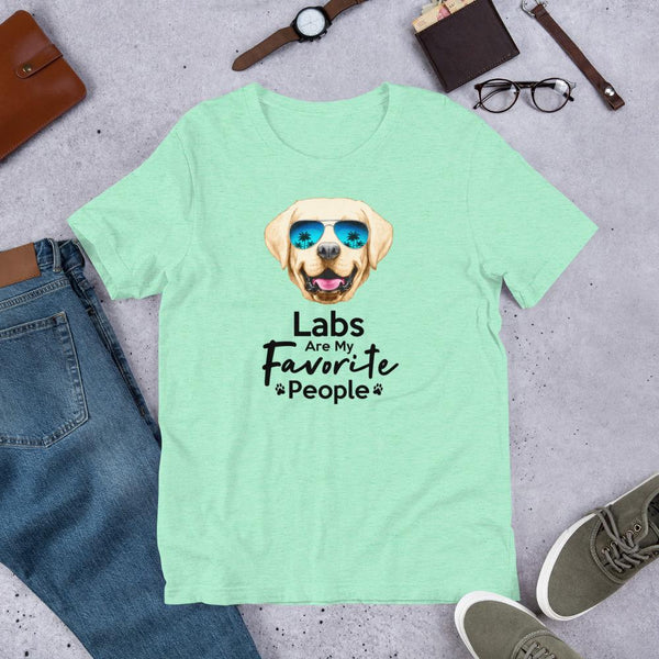 Labs Are My Favorite People Funny Labrador T-Shirt for Men-Heather Mint-Funny Dog Shirts.com