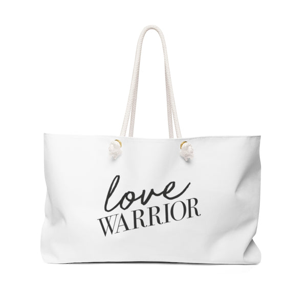 Love Warrior - Weekender Bag- White