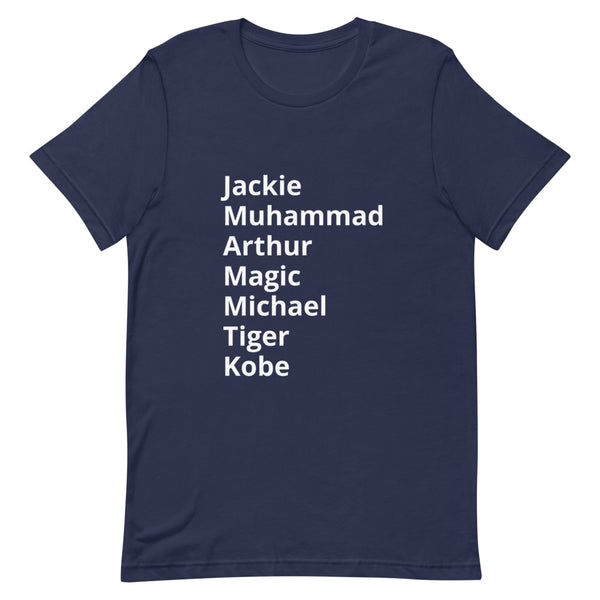 """Black History Month Tribute"" Sports Legends -- Short-Sleeve Unisex T-Shirt"