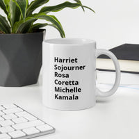 """Black History Month Tribute"" Female/Male Civil Leaders (double-sided) -- Mug"