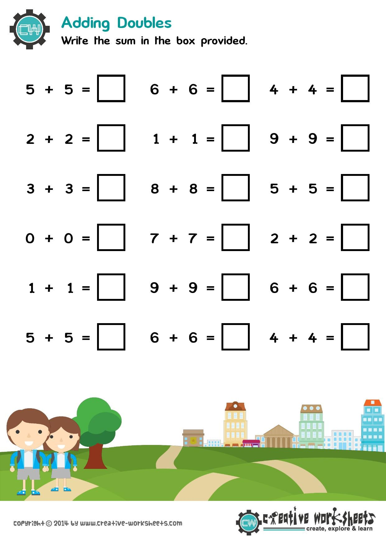 Advanced Kindergarten Math Worksheets - CreativeWorksheets
