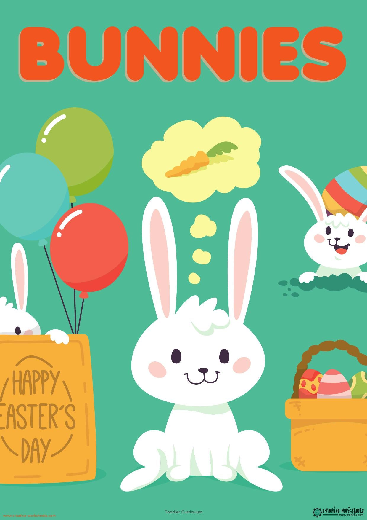 BUNNIES UNIT - TODDLER CURRICULUM - CreativeWorksheets