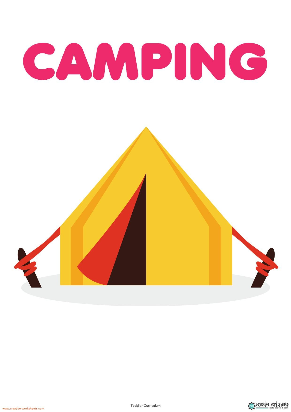 CAMPING UNIT - TODDLER CURRICULUM - CreativeWorksheets