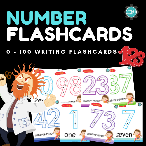 Number Writing Cards - 0 - 100 - CreativeWorksheets