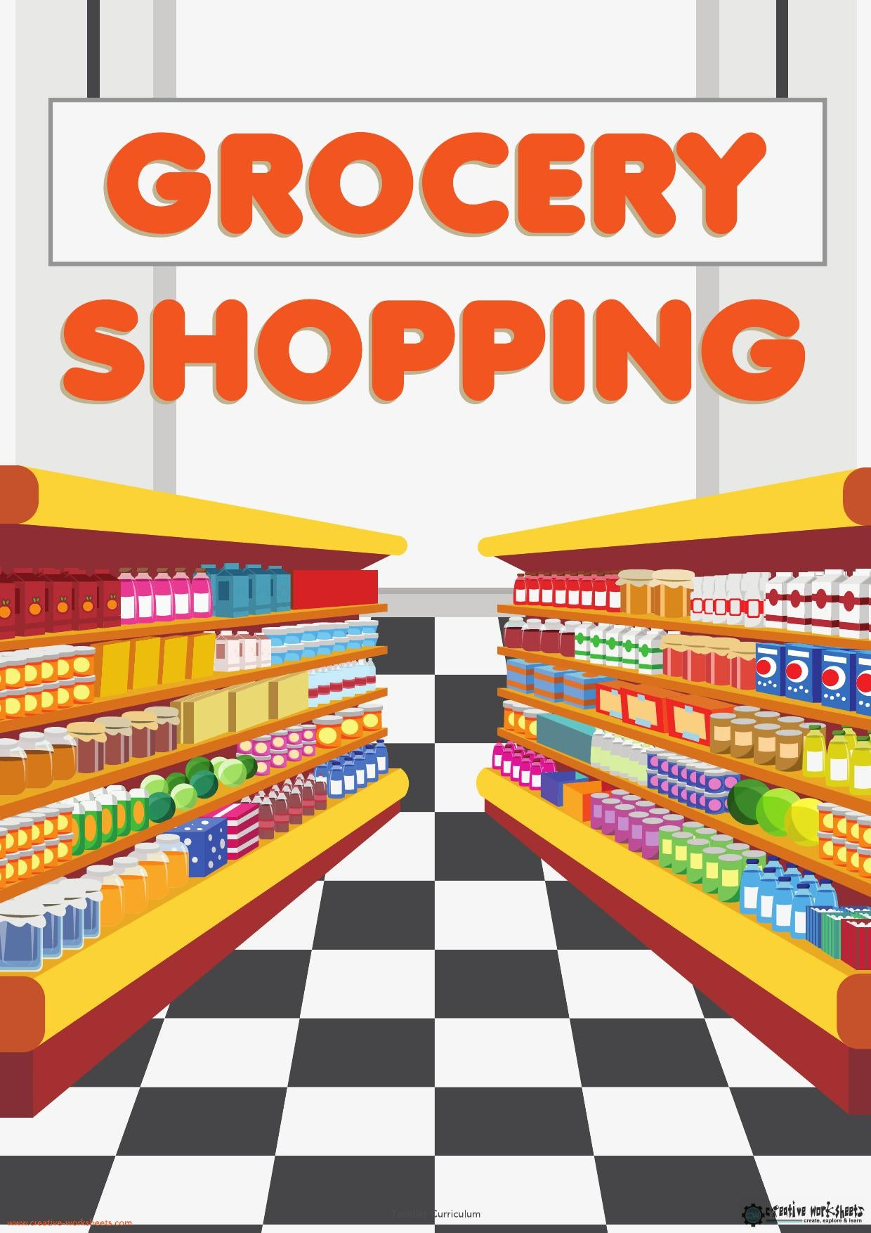 GROCERY UNIT - TODDLER CURRICULUM - CreativeWorksheets