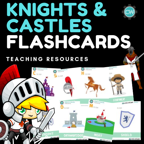Theme-Based Learning: KNIGHTS & CASTLES FLASHCARDS - CreativeWorksheets
