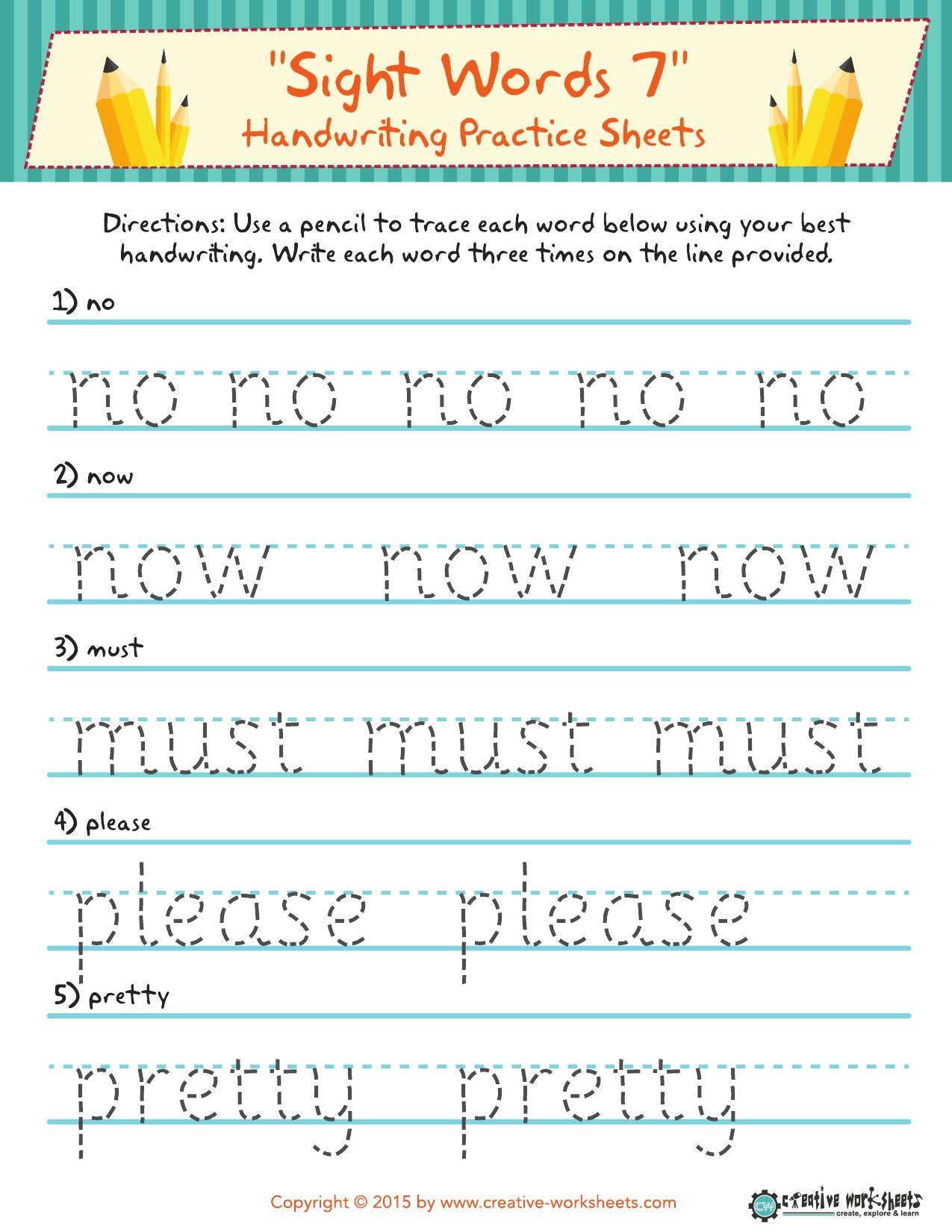 Sight Word Activity: Handwriting - CreativeWorksheets