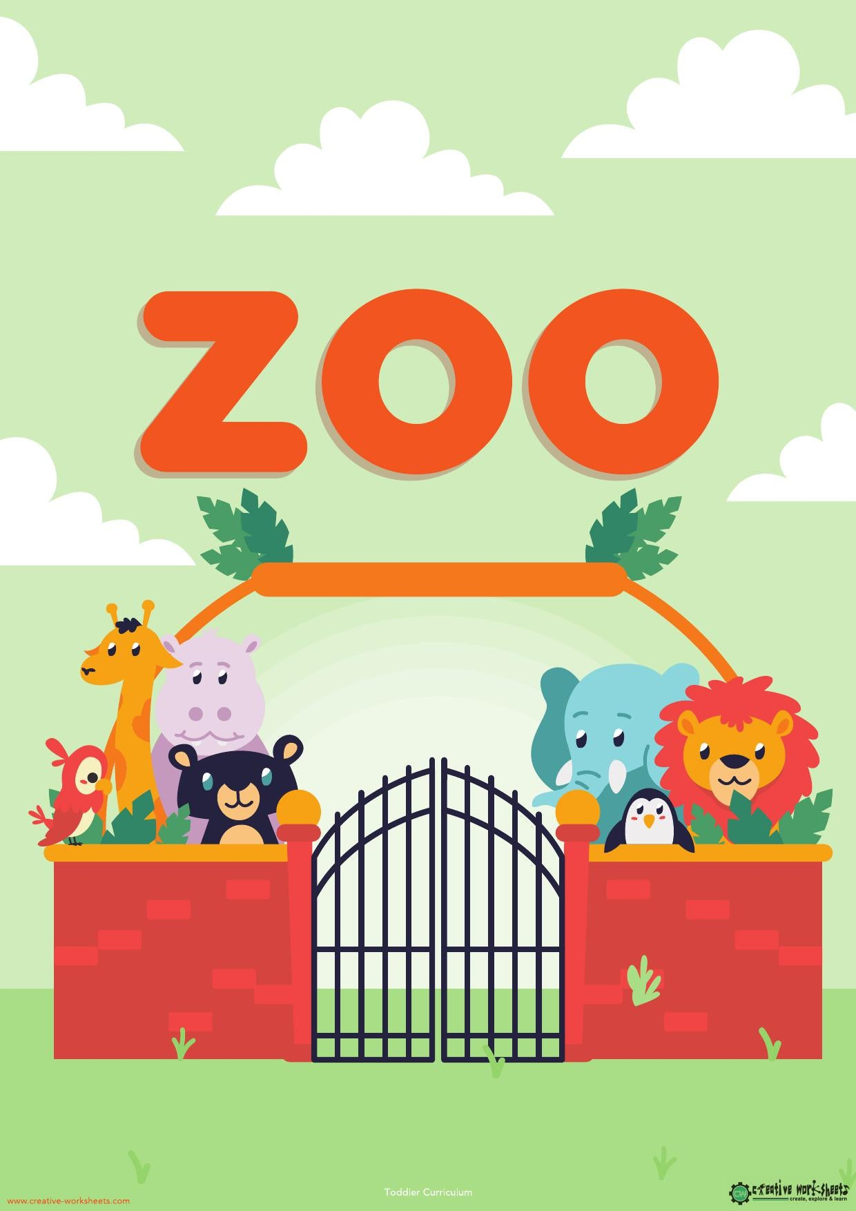 ZOO UNIT - TODDLER CURRICULUM - CreativeWorksheets