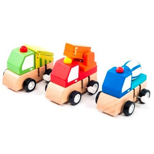 Wooden Wind Up Trucks