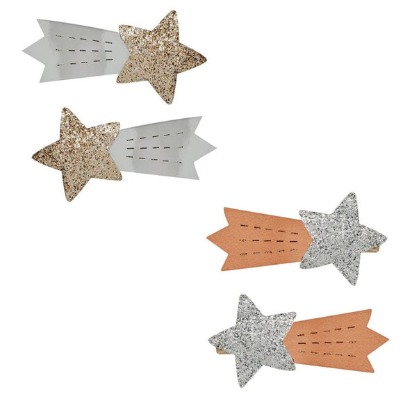 Metallic Shooting Star Hairclips