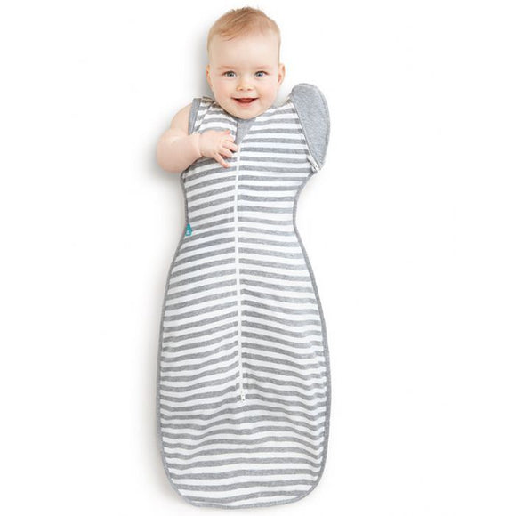 Swaddle Up 50/50 Grey Stripe